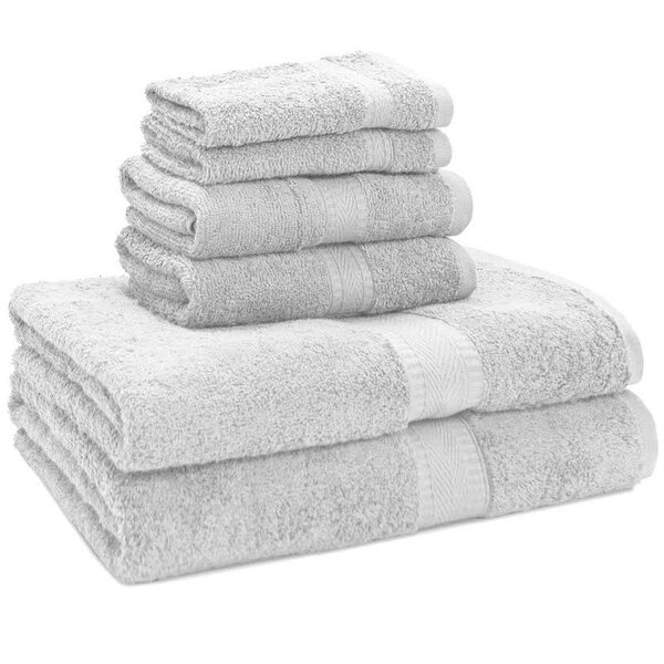 Premium 6 Piece Egyptian-Quality Cotton Towel Set by Bare Home