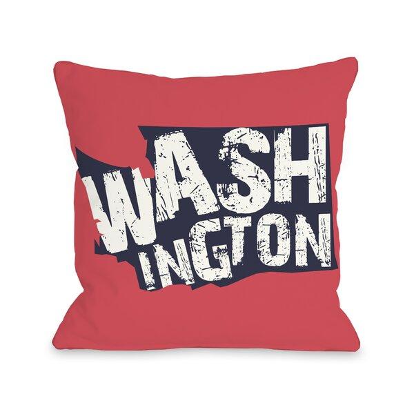 Washington State Throw Pillow by One Bella Casa