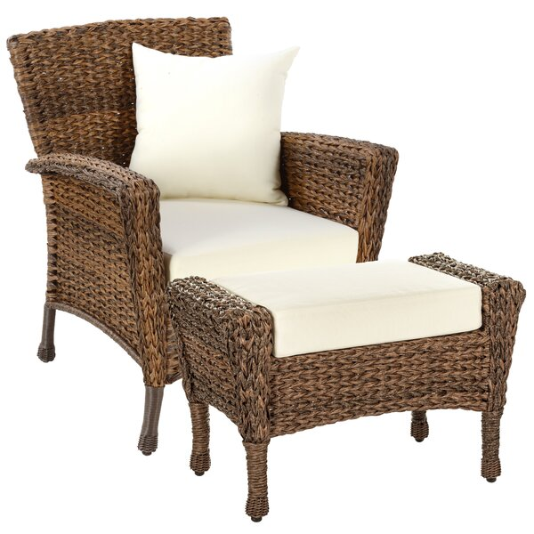 Langford 2 Piece Patio Chair Set with Cushions by Bayou Breeze