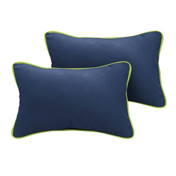 Ona Sunbrella Outdoor Lumbar Pillow (Set of 2) by Rosecliff Heights