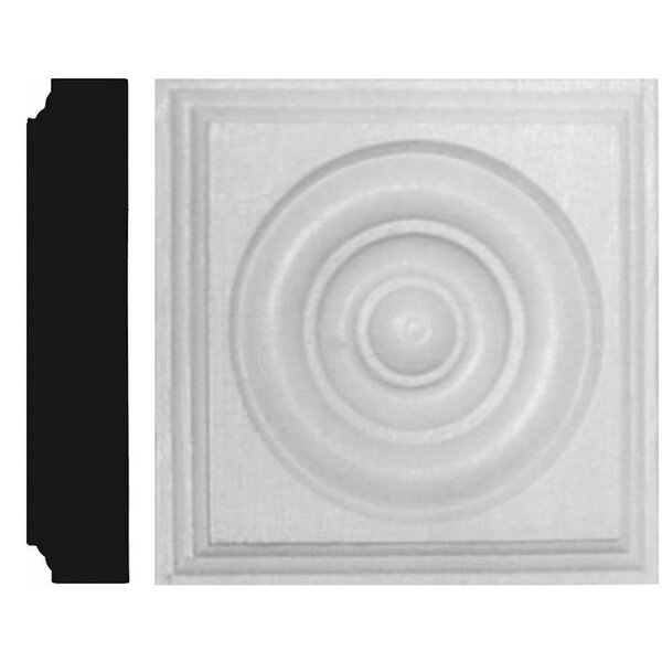 1-1/8 in. x 5-1/2 in. x 5-1/2 in. MDF Rosette Block Moulding by Manor House