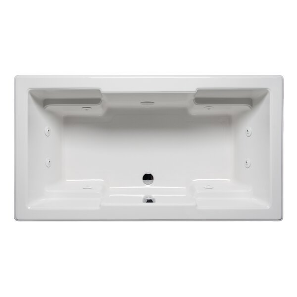 Quantum 66 x 42 Drop in Whirlpool Bathtub by Americh