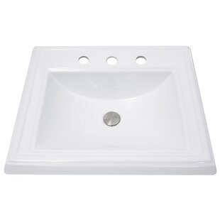 Find a Vitreous China Rectangular Drop-In Bathroom Sink with Overflow By Nantucket Sinks