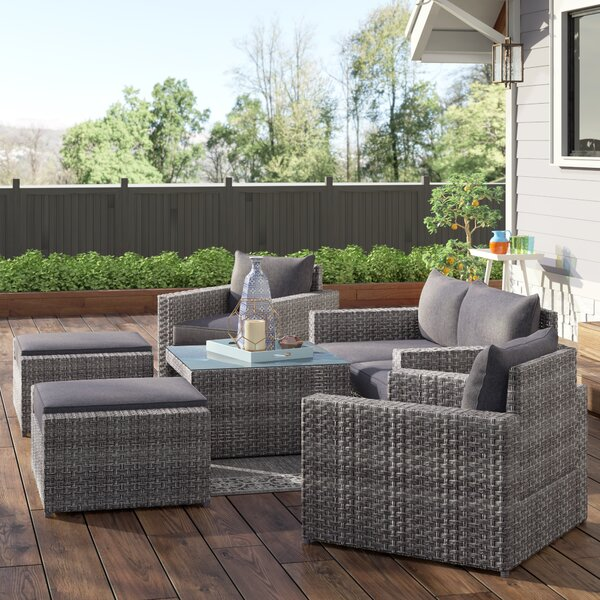 Humnoke 7 Piece Sofa Seating Group with Cushions by Sol 72 Outdoor