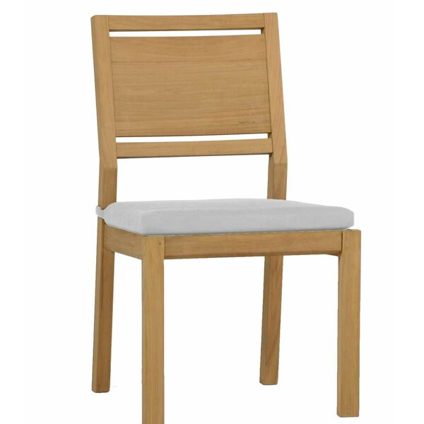 Avondale Teak Patio Dining Chair with Cushion (Set of 2) by Summer Classics
