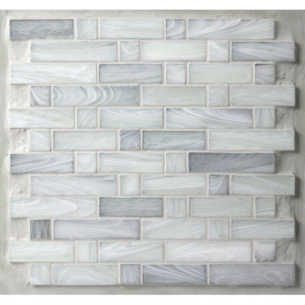 Homespun Glass Mosaic Tile in Gray