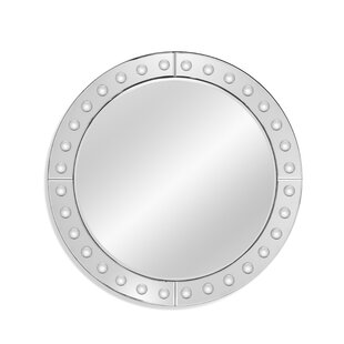 Latitude Run Glam Round Accent Mirror