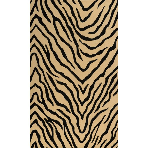 Penley Black and Beige Rug by World Menagerie