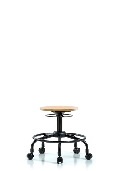 Aiyana Round Tube Base Height Adjustable Lab Stool by Symple Stuff