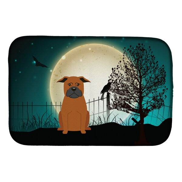 Halloween Scary Chinese Chongqing Dog Dish Drying Mat by Caroline's Treasures