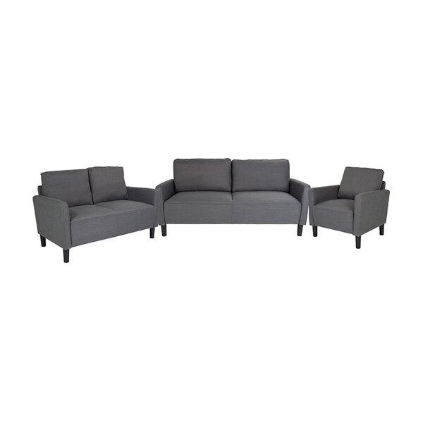 Emmet 3 Piece Upholstered Living Room Set by Brayden Studio