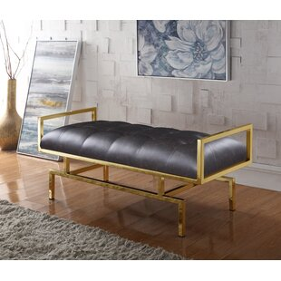 Genesis PU leather Tufted Bench