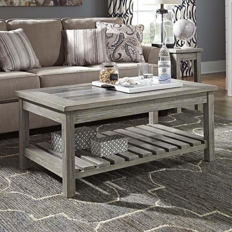Beachcrest Home Briarwood Coffee Table With Magazine Rack Reviews