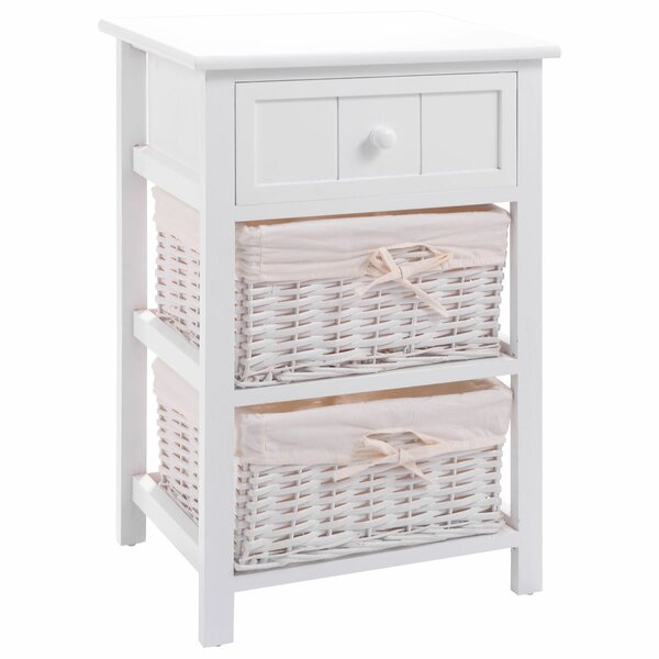 Phone Table Rattan Wicker w// 2 Drawers 3 Shelves 3 Colors