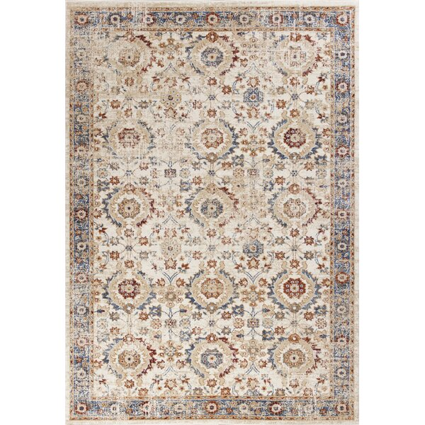 Emmert Transitional Ivory Area Rug by Astoria Grand