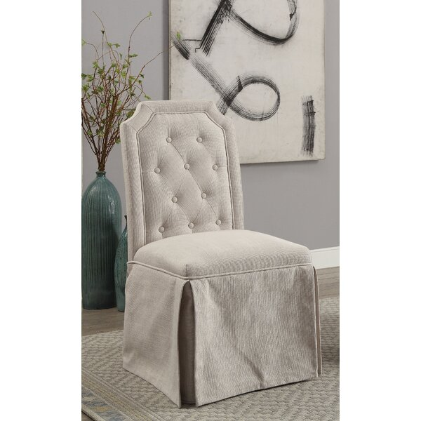 Sickmeier Upholstered Dining Chair Set (Set of 2) by One Allium Way