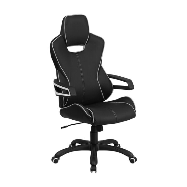 Marco Executive Swivel High-Back Desk Chair with Trim by Orren Ellis