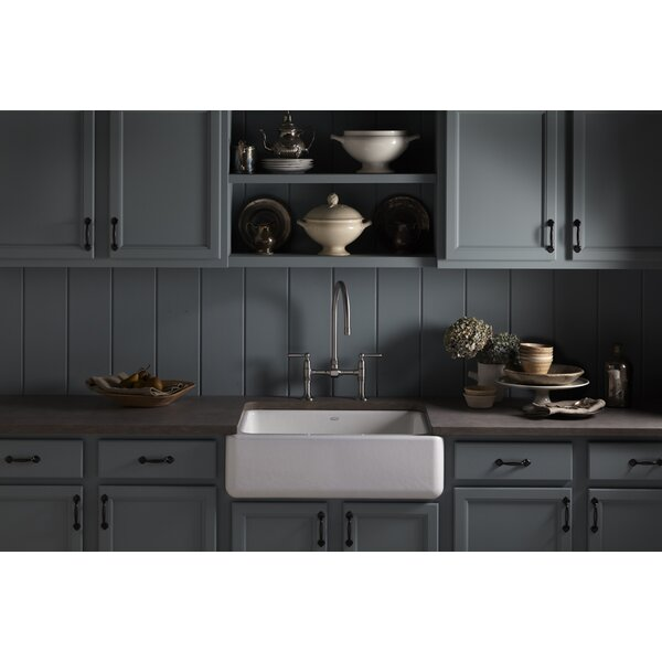Whitehaven 29.69 L x 21.69 W Farmhouse Single Bowl Kitchen Sink by Kohler