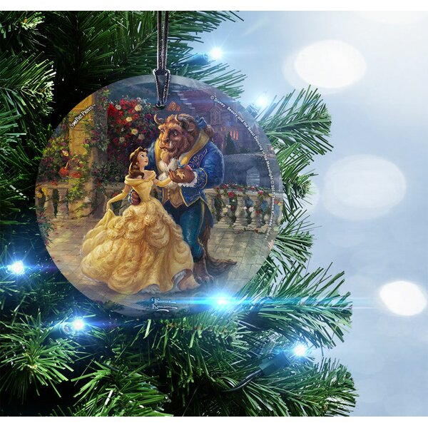 Disney Dancing in the Moonlight Beauty and the Beast Hanging Shaped Ornament by Trend Setters