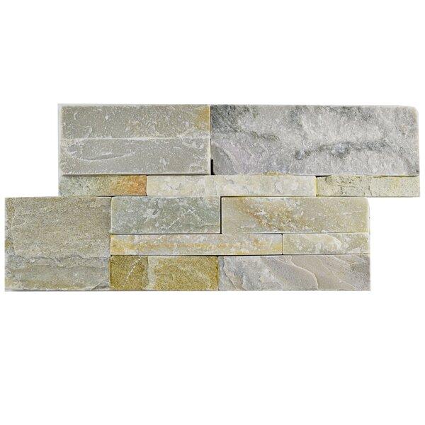 Piedro 7 x 13.5 Natural Stone Splitface Tile in Gray/Beige by EliteTile