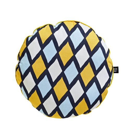 Harlequin Jester Cotton Throw Pillow by Sugar & Tots