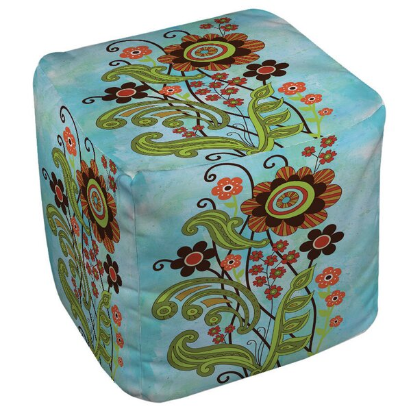 Flower Power Stems Pouf by Manual Woodworkers & Weavers