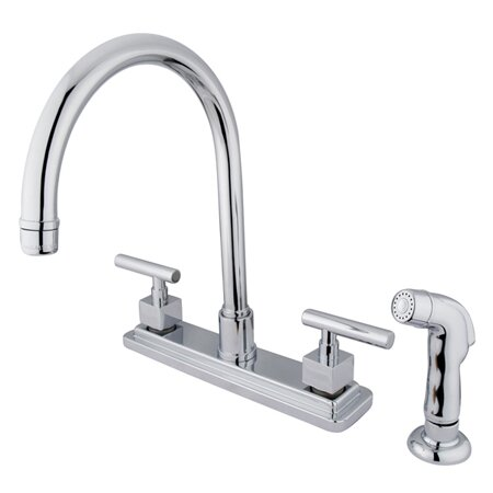 Claremont Pull Down Double Handle Kitchen Faucet by Kingston Brass