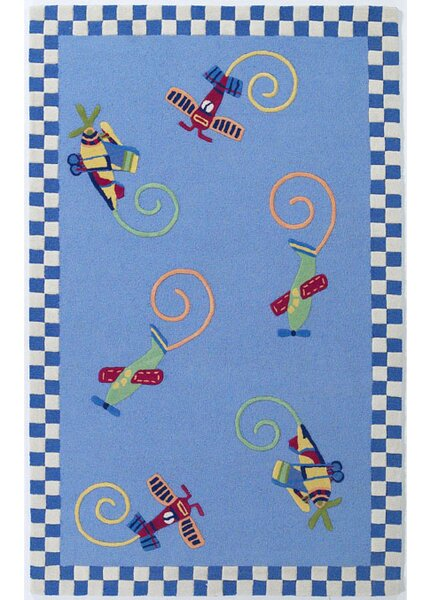 Shari Flying Fun Blue Area Rug by Viv + Rae