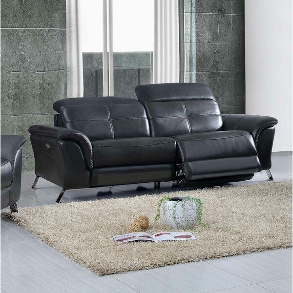 Discounts Tom Electric Leather Reclining Sofa by Brayden Studio by Brayden Studio