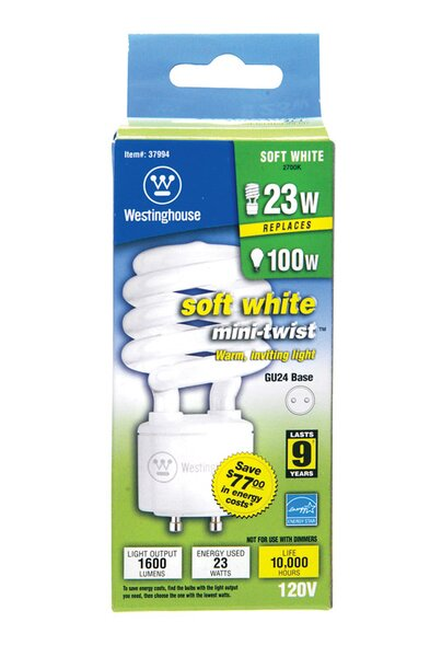23W GU24 Compact Fluorescent Spiral Light Bulb by Westinghouse Lighting