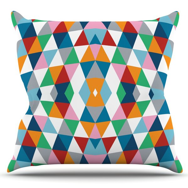 Geometric by Project M Outdoor Throw Pillow by East Urban Home