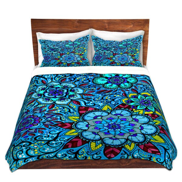 Pinckney Anne Marie Cheung Blue Mandalas Microfiber Duvet Covers by World Menagerie