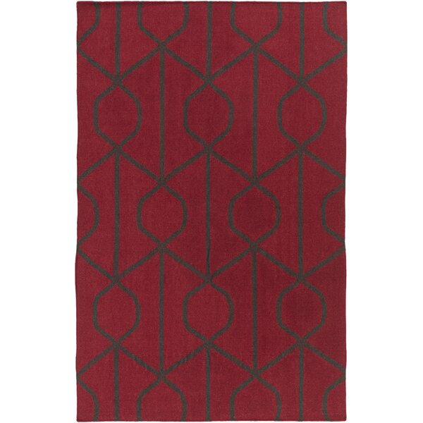 Murrill Red Area Rug by Ebern Designs