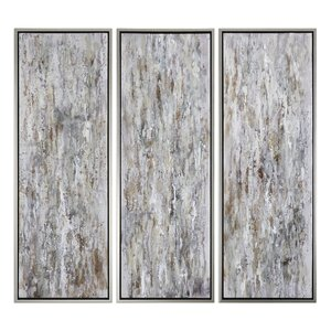 Shades of Bark Modern 3 Piece Framed painting Set by Brayden Studio