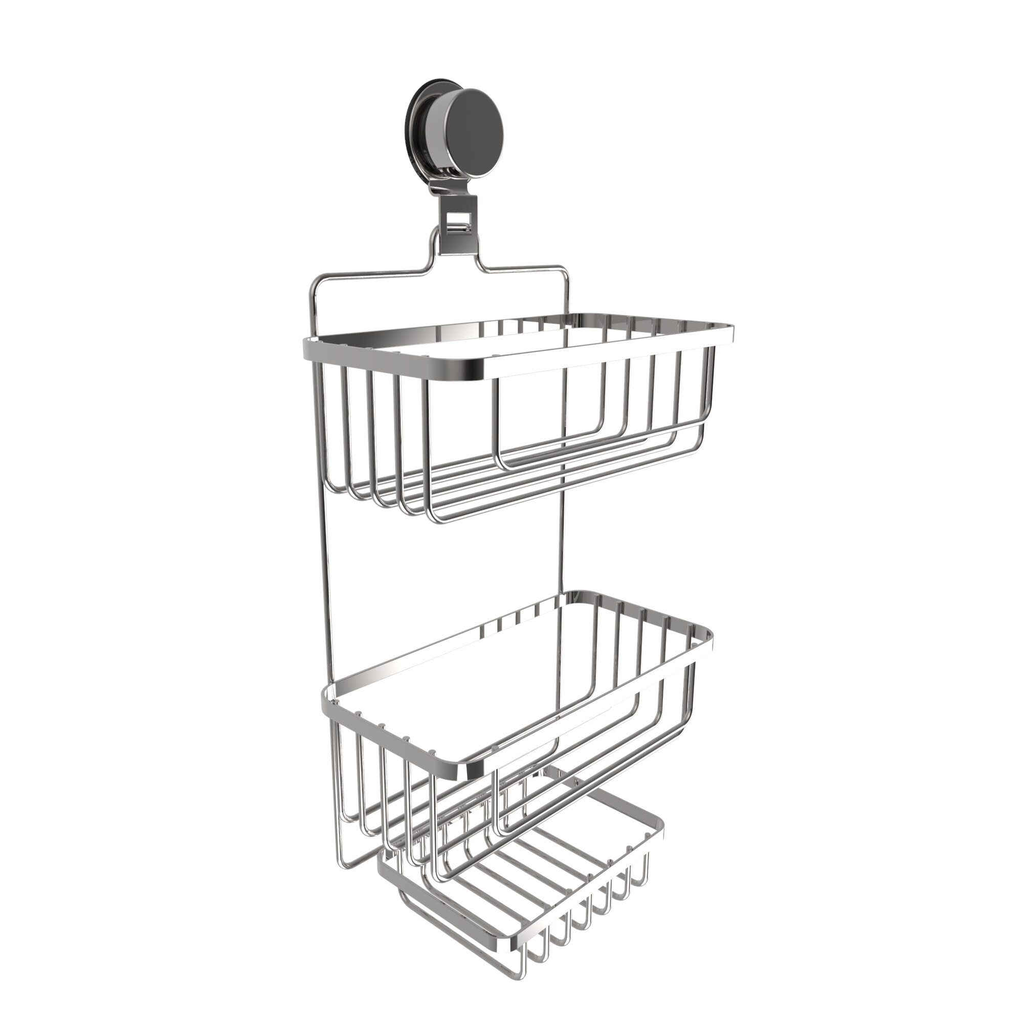 Rebrilliant Wall Mounted 3 Tier Shower Caddy & Reviews | Wayfair