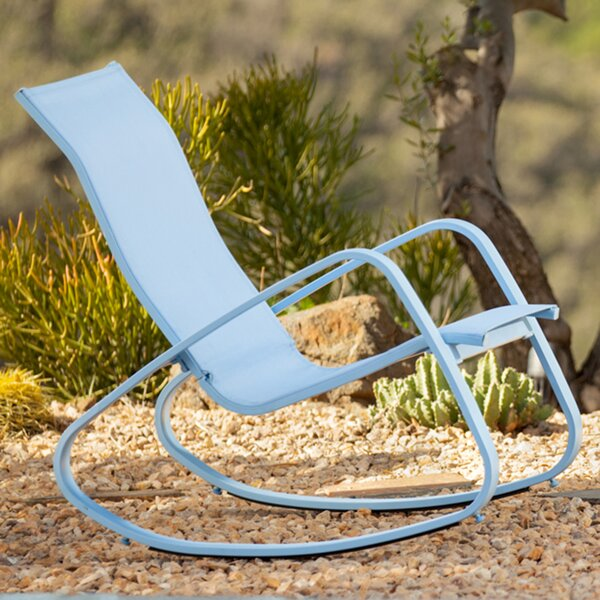Bissett Metal Porch Deck Patio Rocking Chair by Wrought Studio