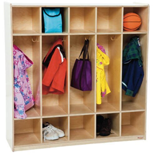 Contender 5 Wide Kids Locker by Wood Designs