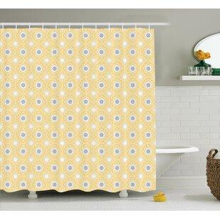 Best Tindall Quatrefoil Far Eastern Girih Tiles Pattern Shower Curtain ByRed Barrel Studio