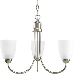 Charlottesville 3-Light Shaded Chandelier by Red Barrel Studio