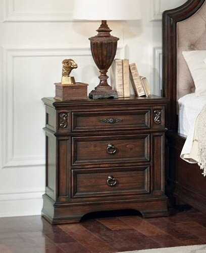 Leffel 3 Drawer Nightstand by Astoria Grand