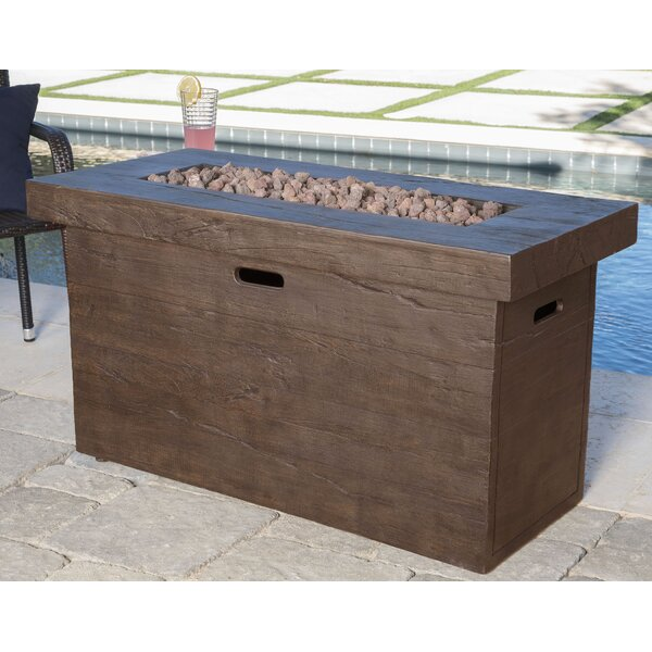 Ralph Polyresin Propane Fire Pit Table by Freeport Park