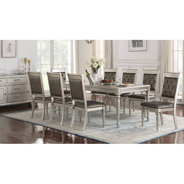 Hawking 9 Piece Drop Leaf Solid Wood Dining Set by Rosdorf Park