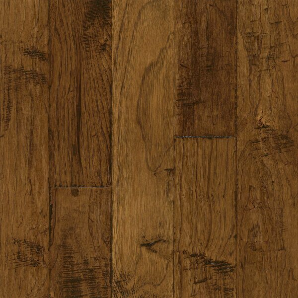Frontier 5 Engineered Hickory Hardwood Flooring in Brushed Sahara Sand by Armstrong Flooring