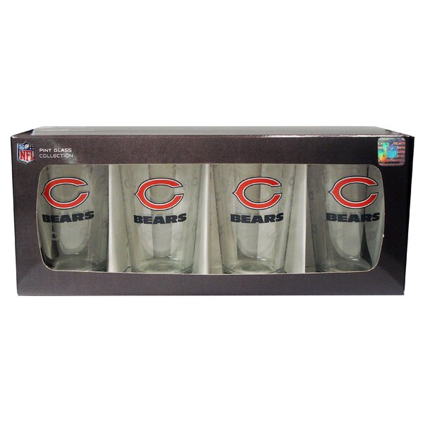 NFL Pint Glass (Set of 4) by Boelter Brands