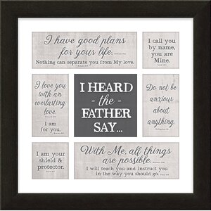 Divine Inspiration 'I Heard the Father Say' Framed Textual Art by Carpentree