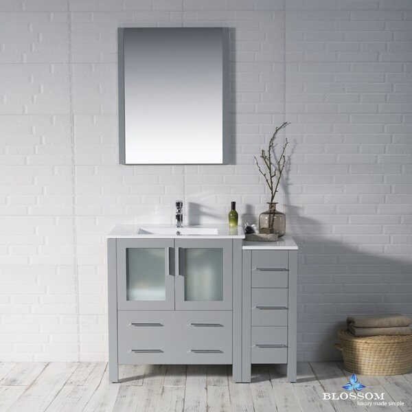 Mance 41 Single Bathroom Vanity Set with Mirror by Orren Ellis