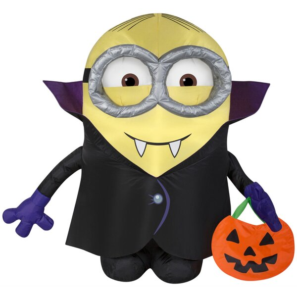 Gone Batty Minion with Treat Sack Inflatable by The Holiday Aisle