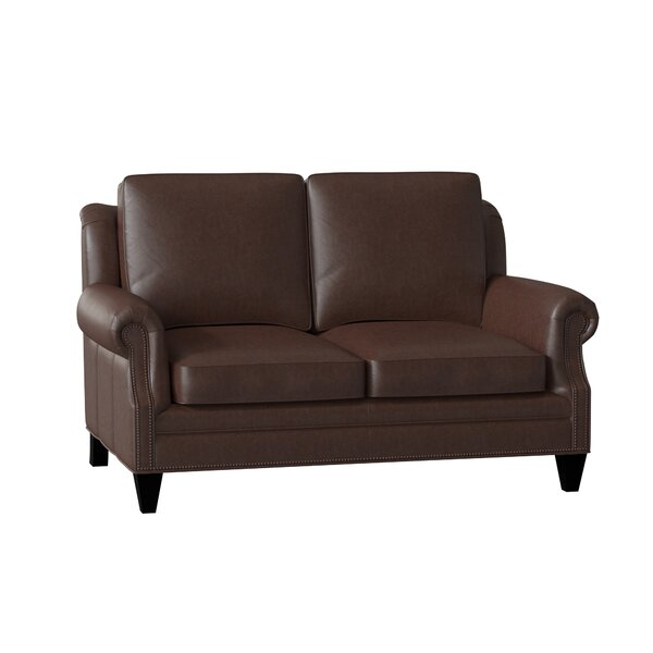 Roe Leather Loveseat By Bradington-Young