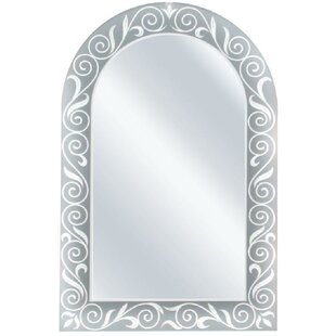 One Allium Way Arch Etched Border Accent Wall Mirror