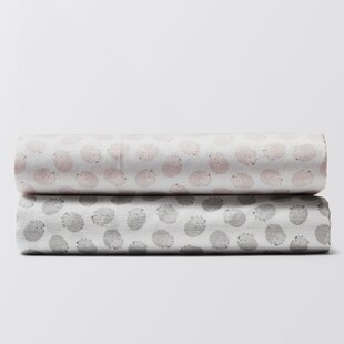 Best Review Hedgehog Printed Fitted Crib Sheet ByCoyuchi